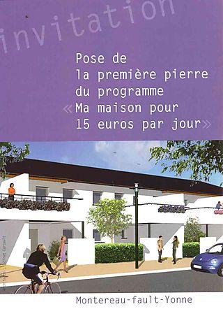 Pose 1 pierre maisons 15 euros