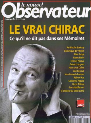 Couv chirac nouvel obs