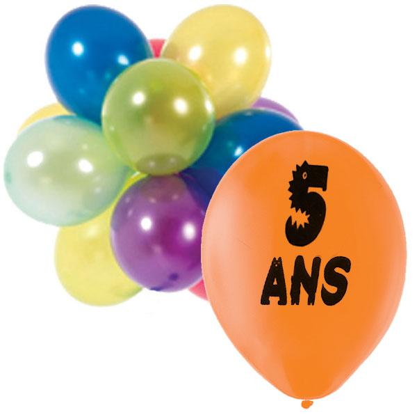 ballons anniversaire 5 ans. Black Bedroom Furniture Sets. Home Design Ideas