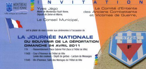 Invitation journée déportation