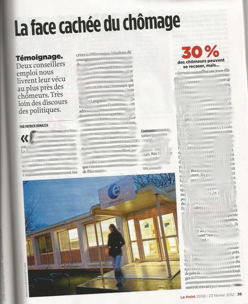 Article le point chômage