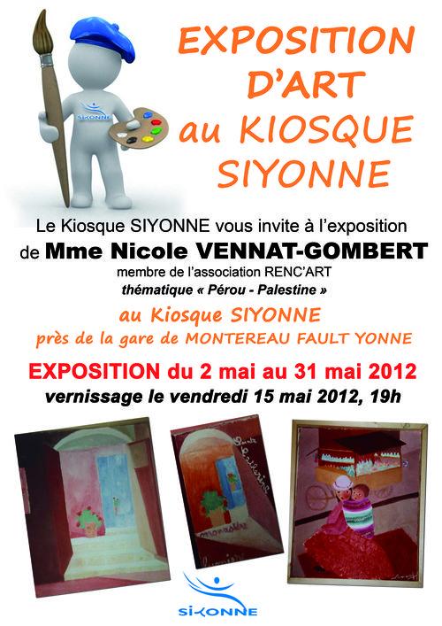 Affiche expo nicole vennat gombert