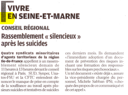 Capture suicides régions