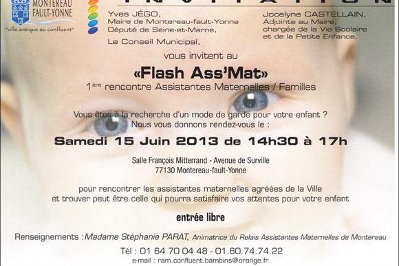 Première rencontre assistantes maternelles /familles samedi 15 juin à Montereau