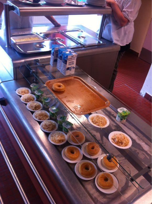 Repas au restaurant scolaire Clos Dion