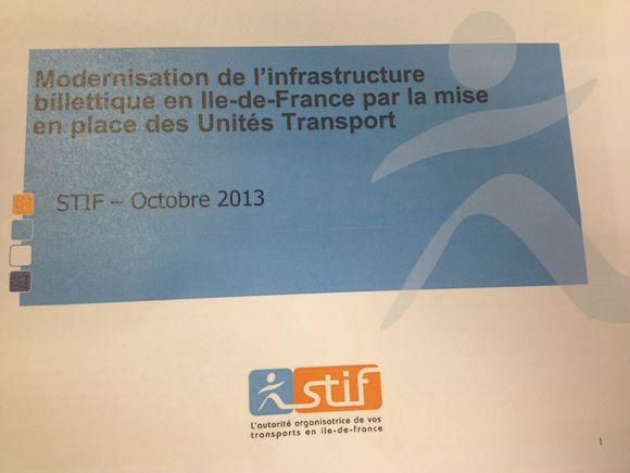 Le STIF souhaite moderniser sa tarification et l'infrastructure billettique