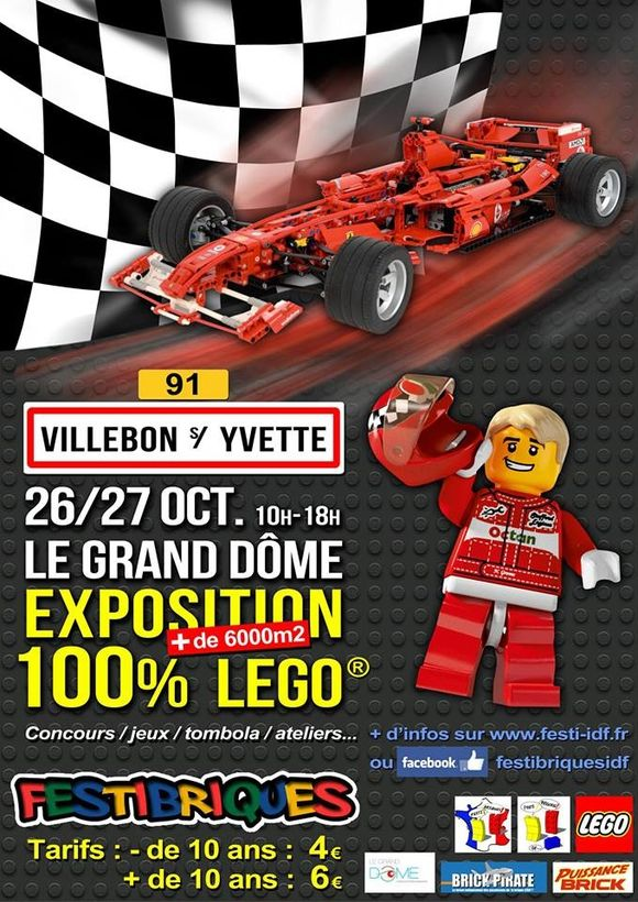 100% lego ce week-end au grand dôme