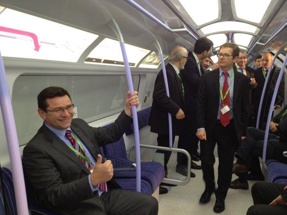 Projet siemens de nouveau métro londonien