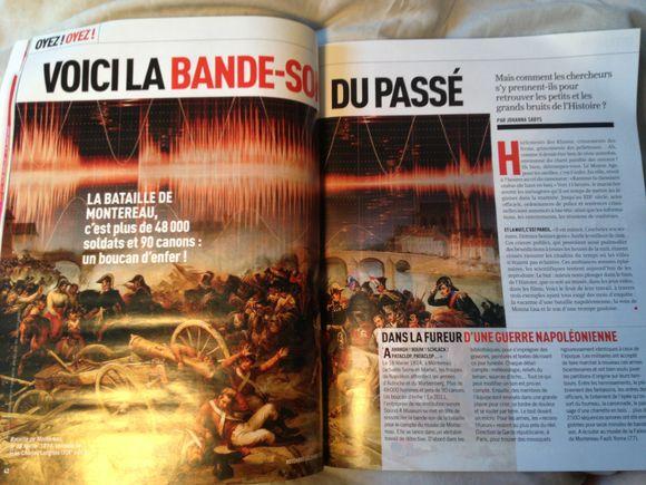 """La bataille de Montereau dans le magazine """"ça m'intéresse Histoire"""""""