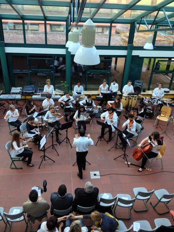 Excellent concert à Walldürn des musiciens du conservatoire municipal