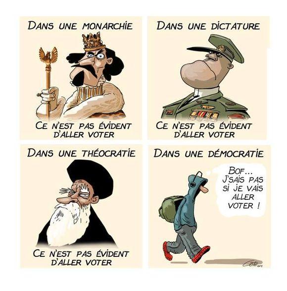 La démocratie, c'est aussi le vote !