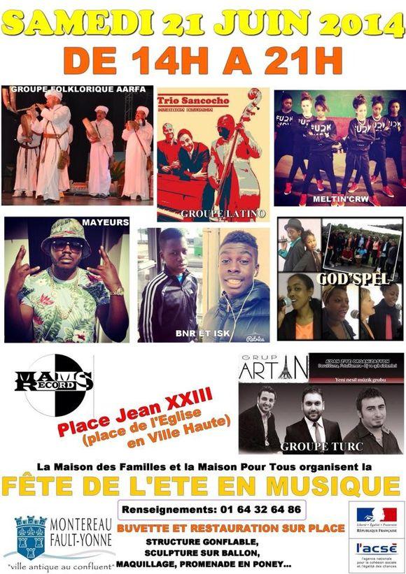 Fête de la musique Montereau 2014