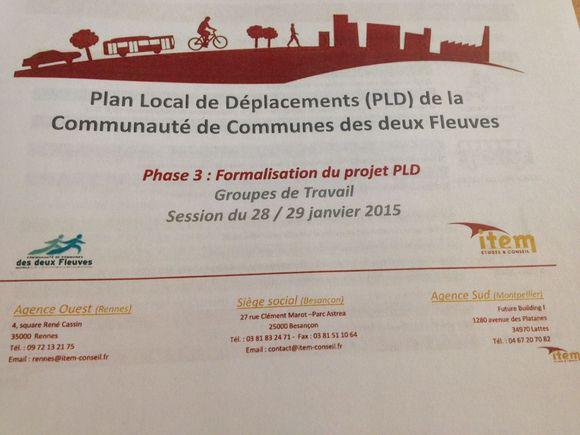 Formalisation du Plan local de Déplacements