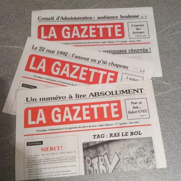 La Gazette, souvenir des années lycées