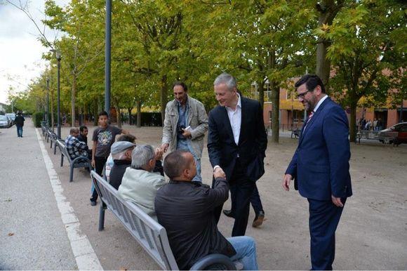 Visite de Bruno Le Maire à Montereau