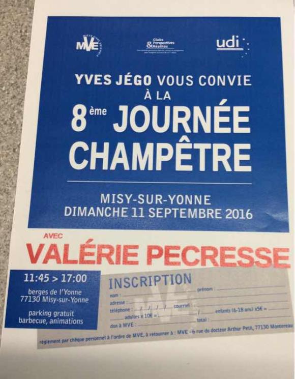 Huitième journée champêtre d'Yves Jégo à Misy sur Yonne