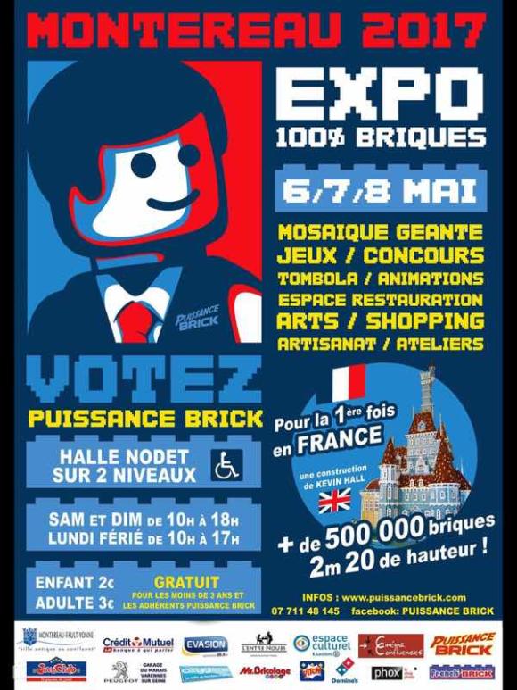 En mai, 3ème convention lego à Montereau