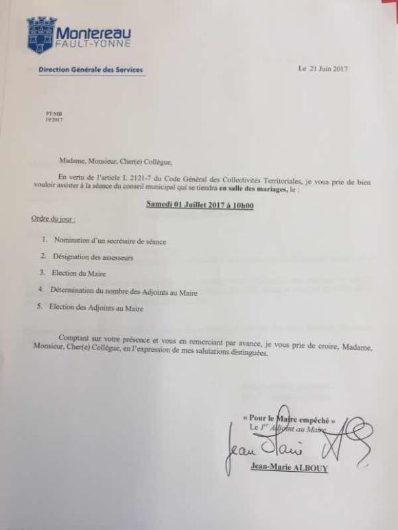Election du nouveau Maire samedi prochain