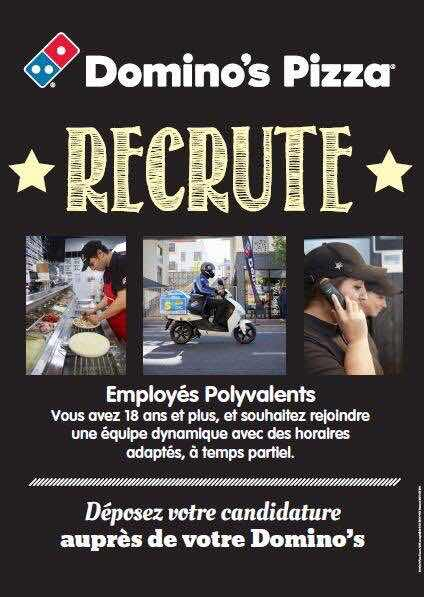 Domino Pizza de Montereau recrute