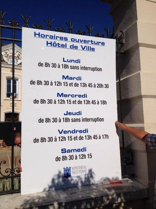 Nouveaux horaires mairie 2014
