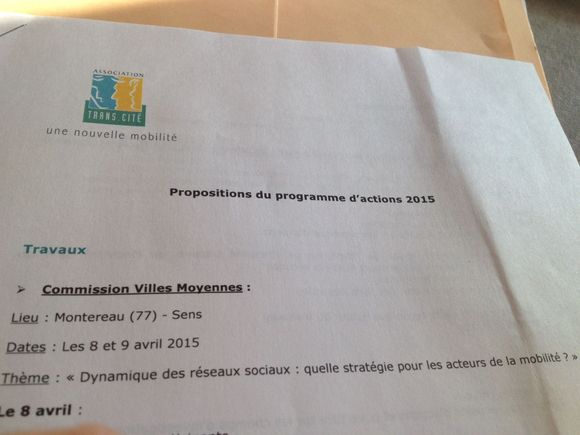 Transcité se réunira à Montereau les 8 et 9 avril