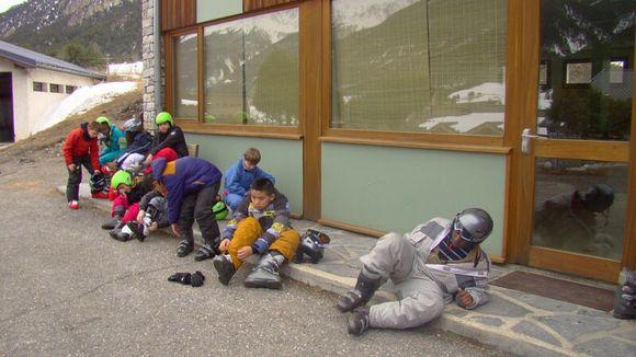 Visite des classes de neige - école de la Poterie