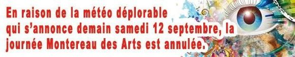 Journée des arts 2015 annulée
