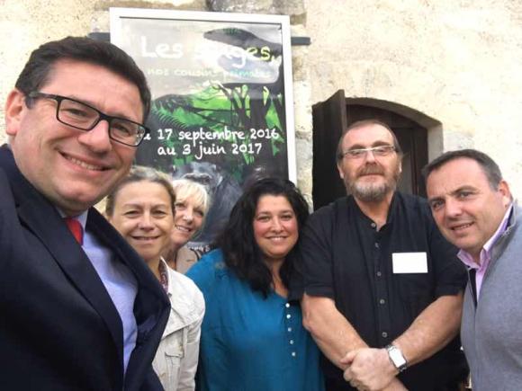 """Inauguration aujourd'hui de l'exposition """"les singes"""" au Prieuré St Martin"""
