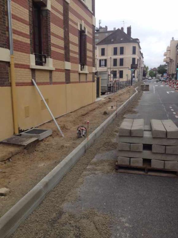 Montereau : élargissement des trottoirs rue Victor Hugo
