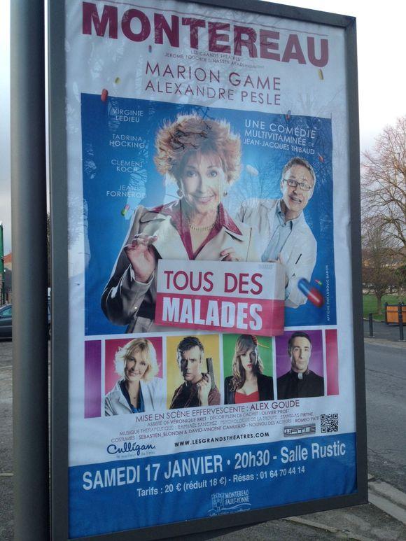 Théatre ce soir à Montereau : tous des malades !