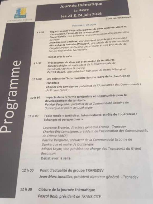 Convention Transcité au Havre