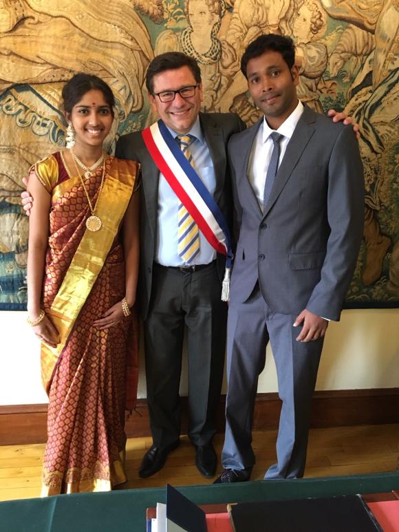 Félicitations à Gothandaraman et Priyanka
