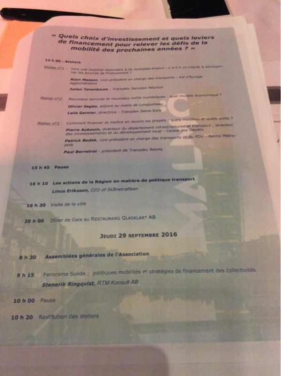 27ème convention annuelle de TRANSCITé : Quels choix d'investissement et quels leviers de financement pour relever les défis de la mobilité des prochaines années