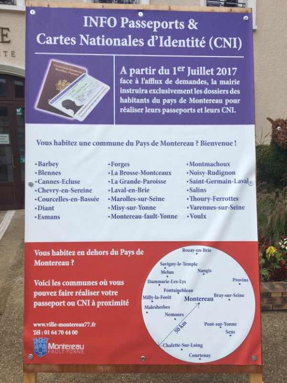 Passeport et carte d'identité : seuls les habitants du Pays de Montereau seront reçus en mairie de Montereau