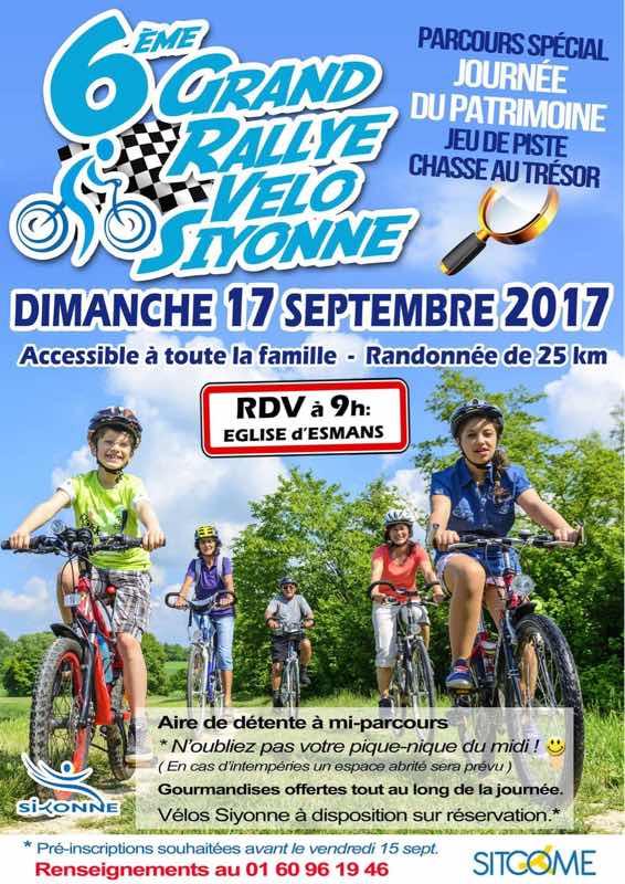 Préparez vos montures pour le 6ème rallye vélo siyonne