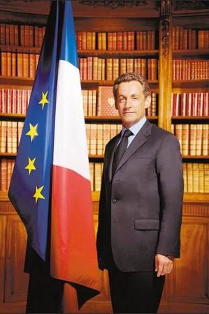 nicolas sarkozy president republique francaise portrait officiel